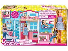 Mattel Barbie Ferienhaus und Puppe