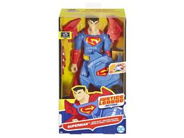 Mattel DC Justice League Deluxe Super Blaster Superman mit Zubehoer 30 cm