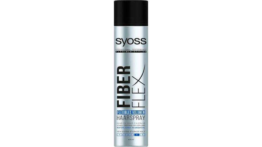 syoss Haarspray Fiber Flex Flexibles Volumen Haltegrad 4 extra stark