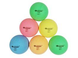 Donic Schildkroet Tischtennisball Colour Popps 6 farbige Baelle in Poly 40 Qualitaet