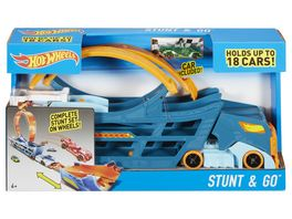 Mattel Hot Wheels Stunt N Go Transporter und Trackset