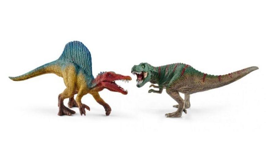 Schleich Dinosaurier Spinosaurus und T Rex klein
