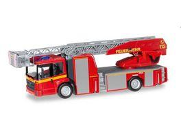 Herpa 092777 Mercedes Benz Econic Metz Drehleiter L32 XS Feuerwehr