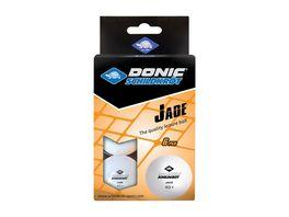 Donic Schildkroet Tischtennisball Jade Poly 40 Qualitaet 6 Stk im Blister weiss