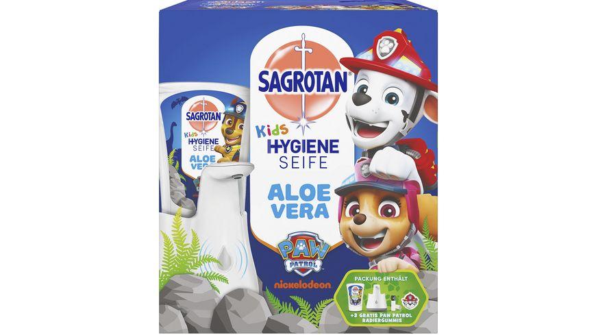 SAGROTAN Kids No Touch Automatischer Seifenspender fuer Kinder inkl Nachfueller Entdeckerpower und Sticker Fluessige Handseife