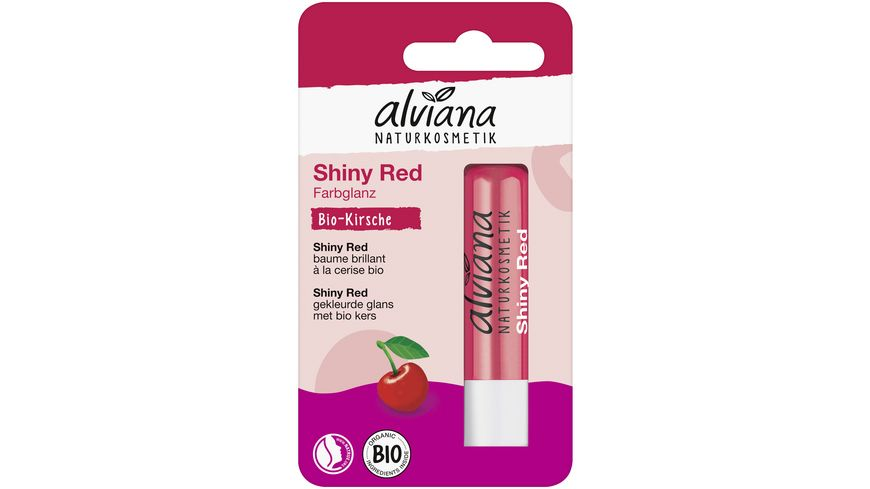 alviana Lippenpflegestift Shiny Red
