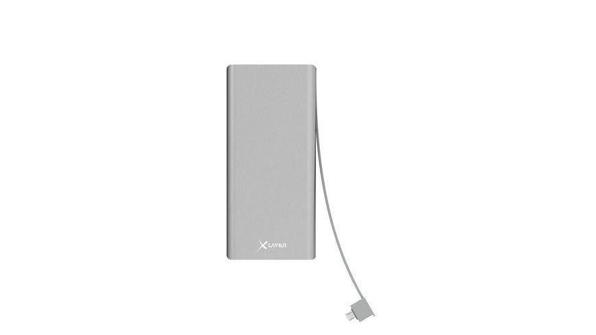 Zusatzakku XLayer Powerbank Comfort PRO Polymer QC Aluminium 10000mAh Smartphones Tablets