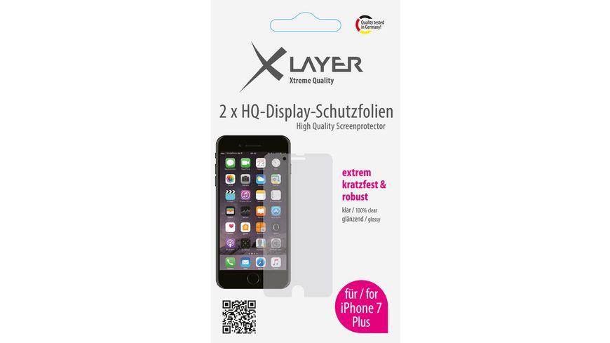 Schutzfolie XLayer 100 clear 2x iPhone 7 Plus 5 5