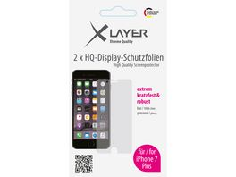 Schutzfolie XLayer 100 clear 2x iPhone 7 Plus 5 5