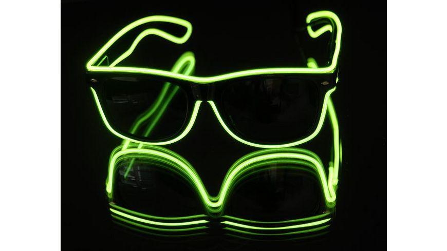 Classic Line - EL-Leuchtbrille grün