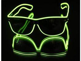 Classic Line EL Leuchtbrille gruen