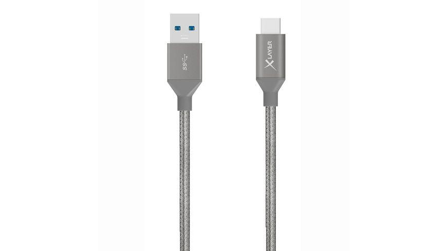 Kabel PREMIUM USB 3 0 auf USB Typ C Grey Laenger 1 20m