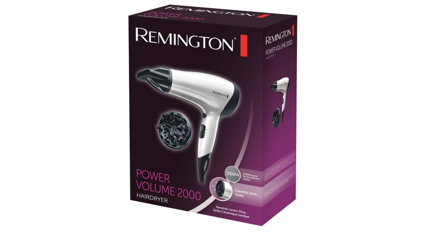 REMINGTON Ionen Haartrockner Power Volume D3015