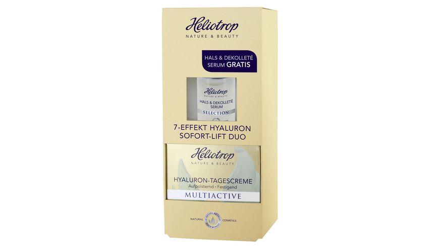 Heliotrop MULTIACTIVE Hyaluron Tagescreme GRATIS SELECTION Hals Dekollete Serum