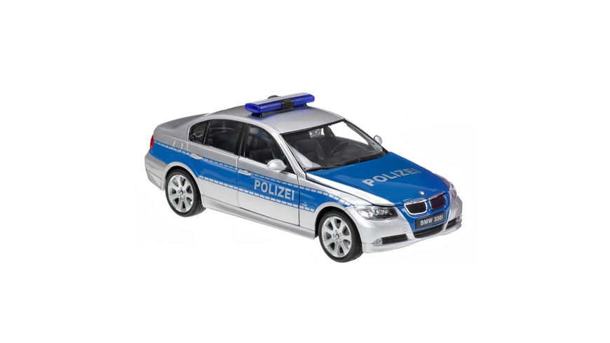 Welly 1 24 BMW 330i Polizei blau