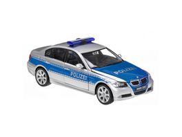 Welly 1 24 BMW 330i Polizei blau
