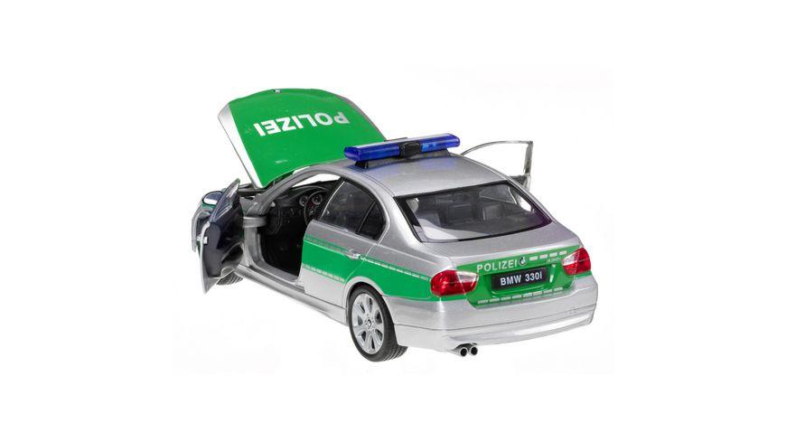 Welly 1 24 BMW 330i Polizei gruen