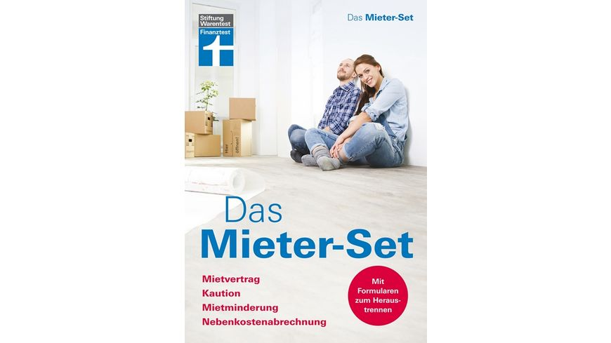 stiftung warentest buch das mieter set mietvertrag kaution mietminderung. Black Bedroom Furniture Sets. Home Design Ideas