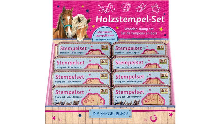 Die Spiegelburg Holzstempel Set Pferdefreunde