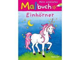 Tessloff Malen Raetseln mehr Mein schoenstes Malbuch Einhoerner