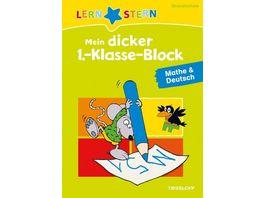 Lernstern Mein dicker 1 Klasse Block Mathe Deutsch