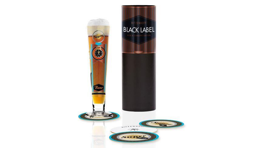 RITZENHOFF Bierglas Black Label von Petra Mohr 0 3l