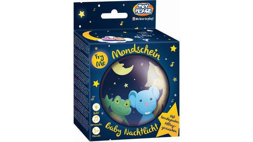 Mueller Toy Place Baby Nachtlicht Mondschein mit beruhigenden Alltagsgeraeuschen