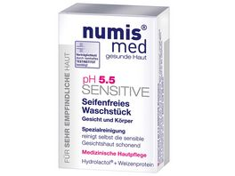 numis med PH 5 5 SENSITIVE Seifenfreies Waschstueck