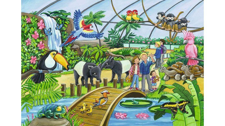 Ravensburger Puzzle Willkommen im Zoo 2 Kinderpuzzles inkl Mini Poster 2x24 Teile