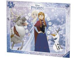 Ravensburger Puzzle Rahmenpuzzle Frozen Anna und Elsa 40 Teile
