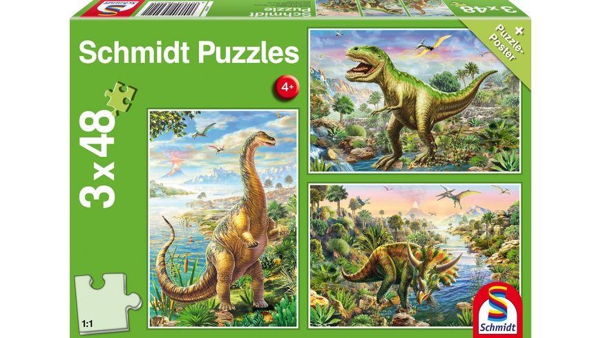 Schmidt Spiele Abenteuer mit den Dinosauriern 48 Teile