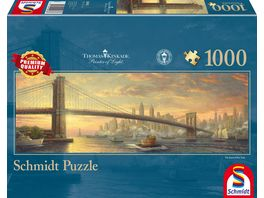 Schmidt Spiele Thomas Kinkade Brooklyn Bridge New York Panoramapuzzle 1000 Teile