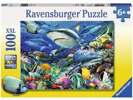 Ravensburger Puzzle Riff der Haie Kinderpuzzle im XXL Format 100 Teile