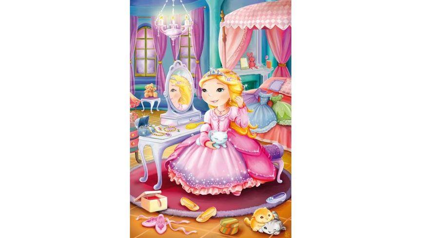 Schmidt Spiele Kinderpuzzle Maerchenhafte Prinzessinnen 3 x 24 Teile