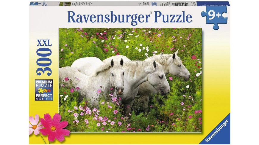 Ravensburger Puzzle Pferde auf der Blumenwiese Kinderpuzzle im XXL Format 300 Teile