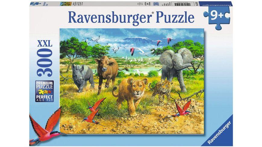Ravensburger Puzzle Afrikas Tierkinder Kinderpuzzle im XXL Format 300 Teile