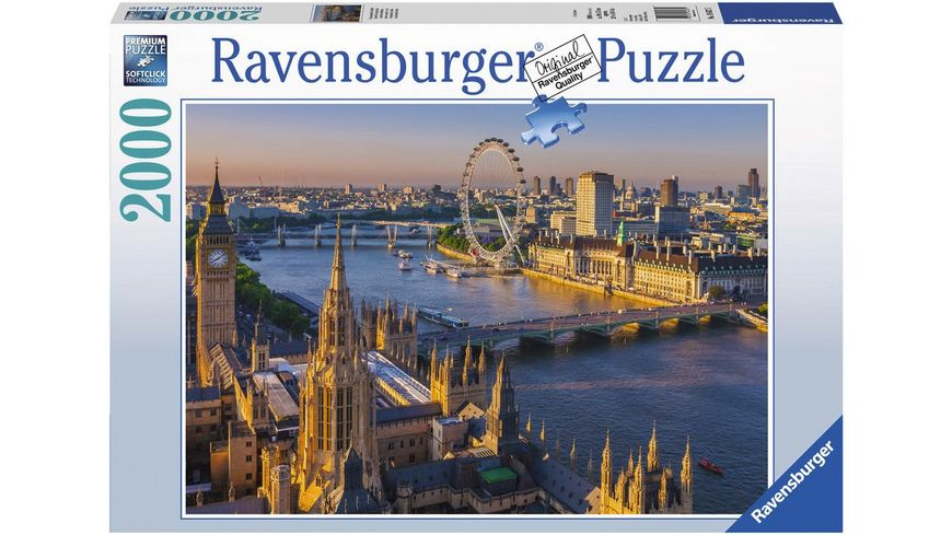 Ravensburger Puzzle Stimmungsvolles London Premiumpuzzle im Standardformat 2000 Teile