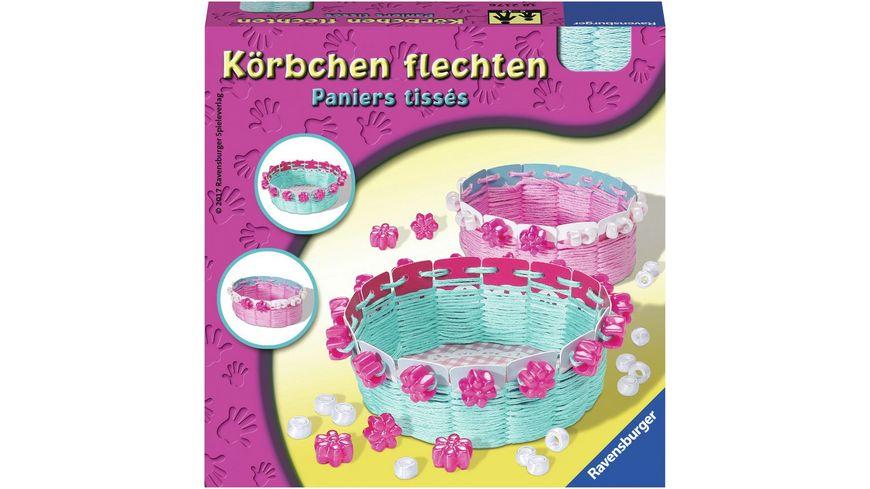 Ravensburger Beschaeftigung Malen und Basteln Koerbchen flechten