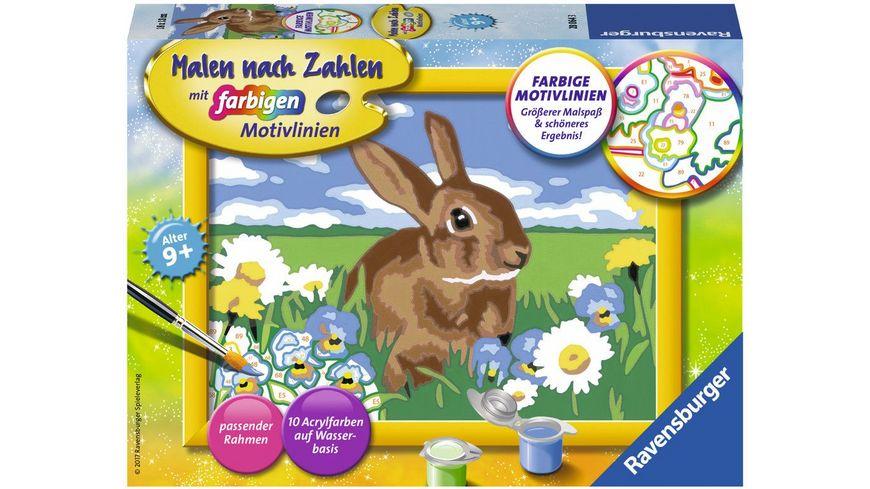 Ravensburger Beschaeftigung Malen nach Zahlen Suesses Kaninchen