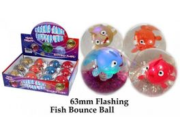 Fun Trading Flummy Glitzerball Fische leuchtend 65mm sortiert
