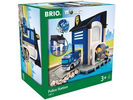 BRIO Bahn Polizeistation mit Einsatzfahrzeug