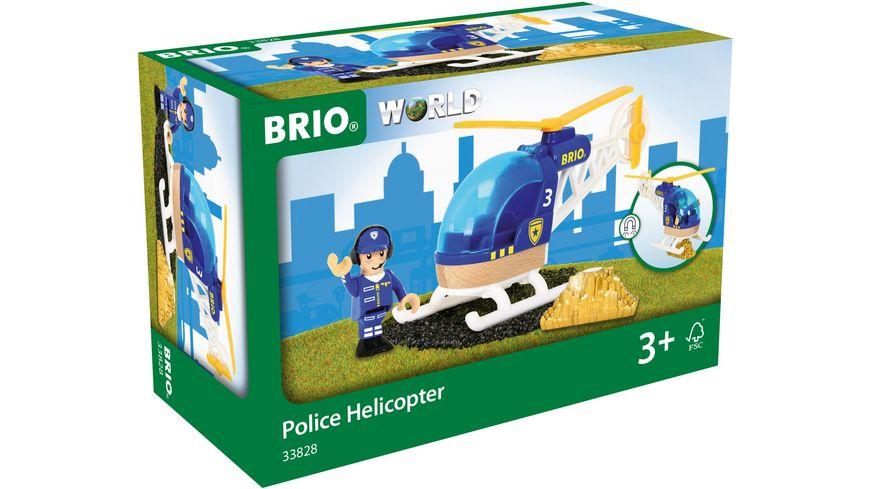 BRIO Bahn Polizeihubschrauber