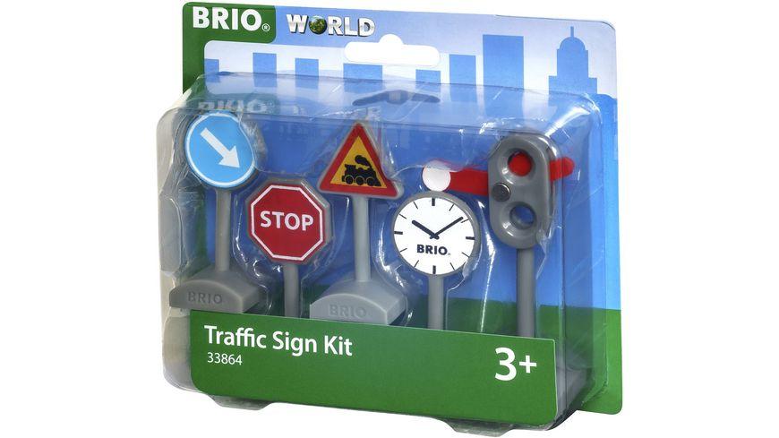 BRIO Bahn Verkehrszeichen Set
