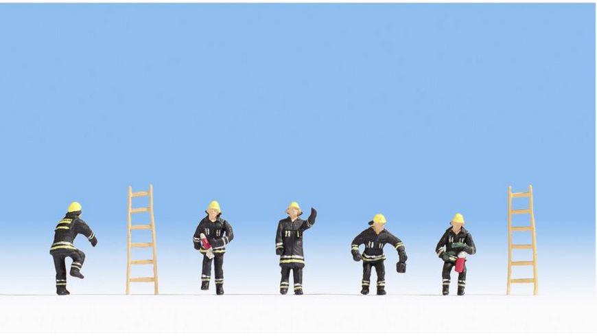NOCH 15021 H0 FIGUREN - Feuerwehr (schwarze Schutzanzüge)