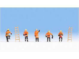 NOCH 15022 H0 FIGUREN Feuerwehr orange Schutzanzuege