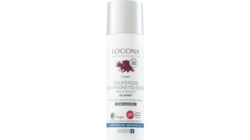 LOGONA Couperose Feuchtigkeits Serum Tag Nacht SILIDINE