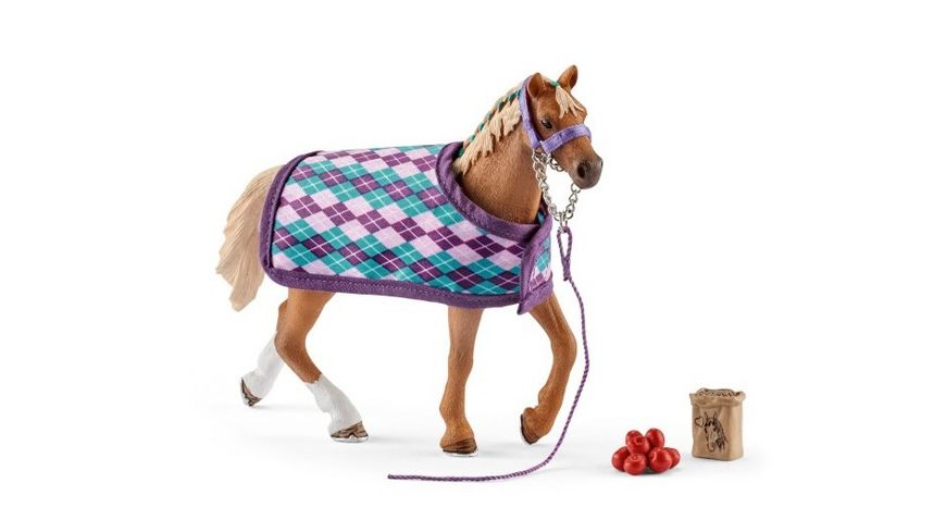 Schleich 42360 Horse Club Englisches Vollblut mit Decke