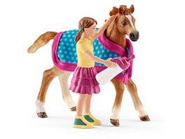 Schleich Horse Club Fohlen mit Decke