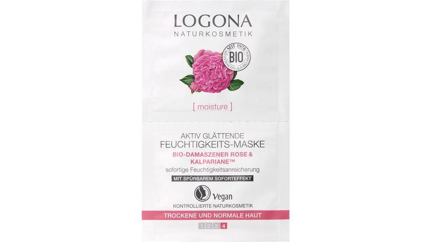LOGONA Feuchtigkeits Maske Bio Damaszener Rose Kalpariane