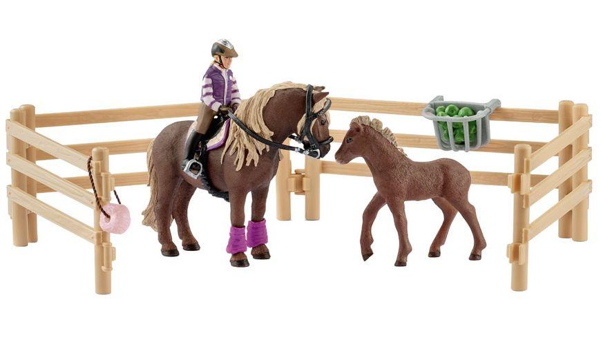 Schleich Horse Club Reiterin mit Island Ponys